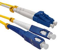 LC/UPC-SC/UPC Fiber Optical Duplex Patch Cords Single mode 9/125 1M-100M Lot