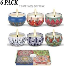 Scented Candles,Soy Wax 6-Pcs, Gift Package Aromatherapy Candle Sets Women Gift