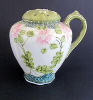 Antique Hand Painted Nippon Porcelain Moriage  Sugar Shaker Muffinerer 1900