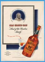 1942 Old Grand Dad Kentucky Bourbon Whiskey Bottle Louisville KY Print Photo Ad