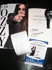 "OZZY OSBOURNE ""I AM OZZY"" AUTOBIOGRAPHY SIGNED BOOK & EXTRAS BLACK SABBATH"