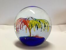 Large Blown Glass Sphere in Vivid Colors!