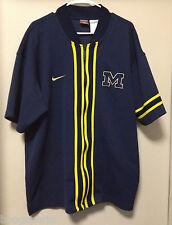 Vintage Michigan Wolverines Nike Warm Up Jacket Full Zip Men's XL