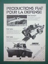 1977 PUB FIAT IVECO BLINDE AMPHIBIE 4X4 FIAT 6614 6616 6640 A FRENCH AD