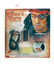PIRATE Curse Character Face MAKEUP KIT beaded hair skull teeth costume theater