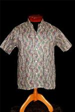 VINTAGE 1960'S COTTON PAISLEY PRINT BUTTON DOWN COLLAR SHIRT SIZE SMALL