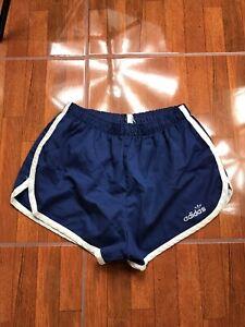 Blue Sport Shorts Vintage Blue Shiny Shorts Vintage Red Side Stripe Shorts Vintage Women/'s Medium Running Shorts Blue Side Stripe Vintage M