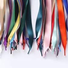 Unisex 100cm/39.37'' Flat Silk Shoelaces Ribbon Satin Trainers Sport Shoe Laces