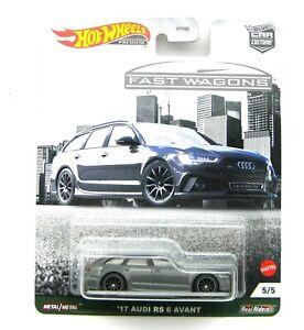 Fast Wagon Audi RS6 Avant grau Car Culture 1:64 Hot Wheels