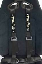 """Car Truck 4 Point Safety Seat Belt Quick Release 2"""" Harness Strap Black Ractive"""