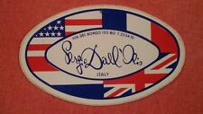 Adesivo Sticker SERGIO DALL'OLIO  Bologna Via del Borgo Italy  cm 12,5 x 8 circa