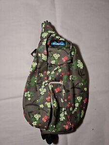 KAVU Mini Rope Bag Cotton Crossbody Shoulder Sling Backpack - Forest Blossom