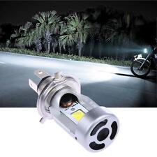 Motorcycle LED Headlight H4 Hi Lo 20W 2000LM M4-H4 HS1 COB Headlamp 6500K White