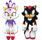 NEW Set of 2 GE Sonic the Hedgehog - Blaze the Cat & Shadow Stuffed Plush Toys