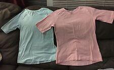 NWOT Lot 2 Velocity Sports Shirts Pink Light blue L Round Neck Exercise Athletic