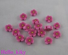 200 pcs Cherry fimo polymer clay flower beads 8mm M407