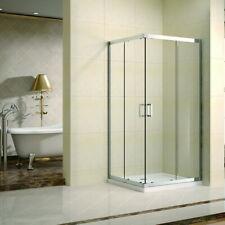 Box doccia angolo cm 80x100 apertura 2 ante scorrevoli , cristallo 6mm