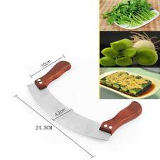 Vegetable Herb Mezzaluna Cutter Slicer Chopper Blade Cutting Chopping Tool OE