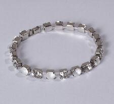Elegantes Armband silber rhodiniert Swarovski Strass Kristall White Opal * Neu