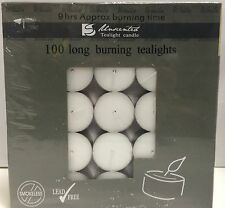 50pcs 9 Hours White Tealight Candle Tea Light Candles Home Decor Party Wedding