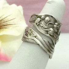 LILY VALLEY Sterling Silver Spoon Ring Med Sz 7-11 Custom Silverware Jewelry