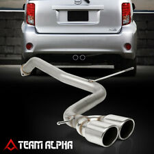 """Fits 2008-2015 Scion xB BB [3.5"""" ROLLED TIP DUAL MUFFLER] SS Axle Back Exhaust"""