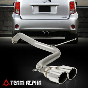 "Fits 2008-2015 Scion xB BB [3.5"" ROLLED TIP DUAL MUFFLER] SS Axle Back Exhaust"