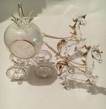 Cinderella Glass & Pumpkin Carriage And Horses
