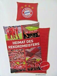 Mikrofaser Bettwäsche FC Bayern München  HEIMAT 135 x 200 cm -NEU/OVP