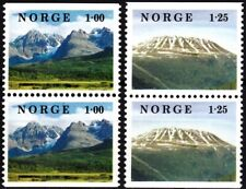NORWAY 1978 Landscapes. Mountains. 2 Pairs, Complete set, MNH