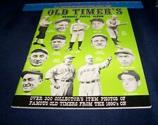 1961 JKW SPORTS PUBLICATIONS OLD TIMERS'S PHOTO ALBUM VOLUME 1 EX/NM BABE RUTH