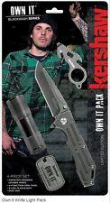Set 4 Pcs Kershaw Own It Knife Light Pack : Couteau,Lampe,Outil,Dog Tag KS1304B