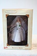 Hallmark Keepsake Ornament Barbie Blushing Bride Christmas 2002 Wedding Gown