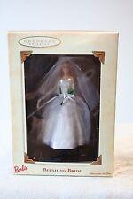 Hallmark Keepsake Ornament Barbie Blushing Bride Christmas 2002 Wedding Gown