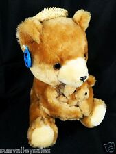Dakin Brown Teddy Bear w Baby Vintage 1977 New with Tags Hawaii Hat