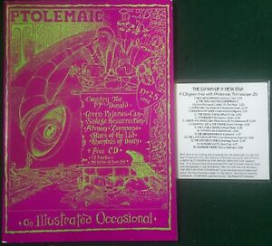 PTOLEMAIC TERRASCOPE #25 + 15-track CD Fab 1998 Psych Magazine