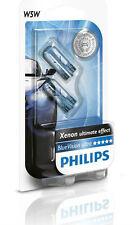 COPPIA W5W T10 PHILIPS BLUE VISION XENON EFFECT