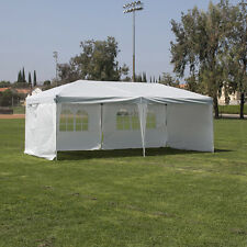 Easy Pop Up Silver and White 10'x20' Heavy Duty Canopy Instant Tent w/  4 Walls