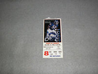1996 New York NY Giants VS New England Patriot NFL Game 8 Ticket Stub NJ Stadium