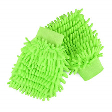 2 Pack Car Care Chenille Wash Mitt Extra Large Size -Dust Wash Buff Wash Glove