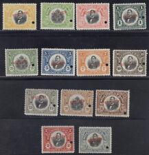 Haiti 1914, Unissued set(13), American Bank Note Co. SPECIMEN overprints NH