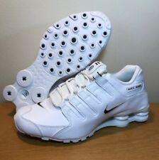 sale retailer 362e6 4efc6 Nuevo Nike Shox NZ EU Para Hombre Blanco Negro Cuero Running Zapatos Talla 8  501524-106