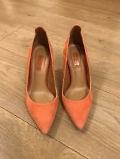 Ladies Top Shop Orange Stiletto Shoes Size 4