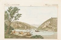 UNBEKANNT (19. Jhd.),Mäuseturm (Bingen), kolor. Kupferst.