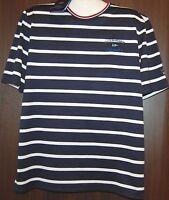 Paul & Shark AUTHENTIC Men's Navy White Striped Italy Cotton T-Shirt Shirt Sz L