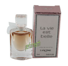 LA VIE EST BELLE MINI  0.101 OZ 3 ML EDT SPLASH FOR WOMEN BY LANCOME NEW IN BOX