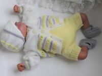 Baby Knitting Pattern #73 TO KNIT Baby/Reborn Doll Cardigan Hat Trousers Booties
