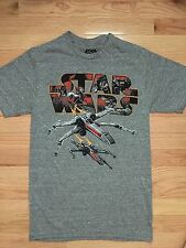 NWT Men's STAR WARS Gray Small T-shirt NWT T-65 X-Wing Starfighter Spacecraft