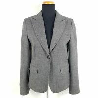 Marc O'Polo Tweed Blazer Damen Gr. 36 Grau Wollmischung Business Jacke