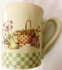 """ IN THE GARDEN"" Ceramic Coffee Mug By Sonoma Home Goods"
